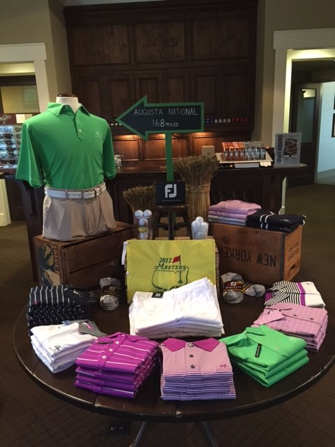 Interior shot of the pro shop at The River Club in Suwanee, Georgia